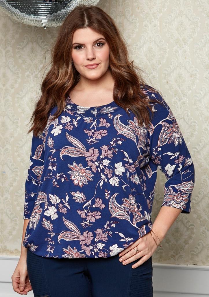 02adeb46 TOPP MED STRIKK NEDE-409 - Pip Stormote • Nettbutikk for klær i store  størrelser