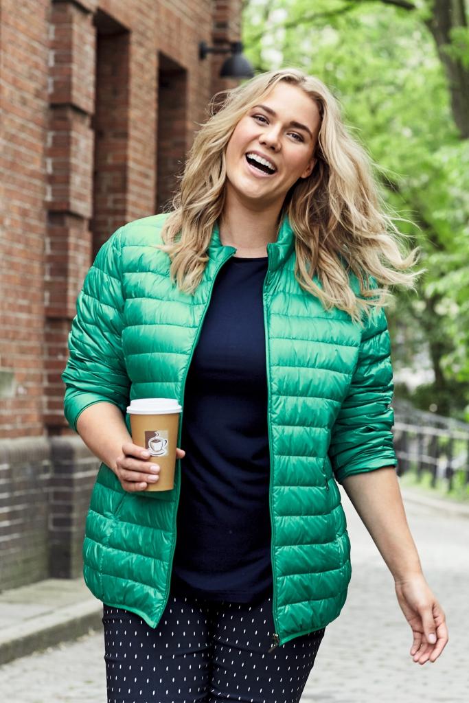 5933b751 dunjakke plus size grønn - Pip Stormote • Nettbutikk for klær i ...