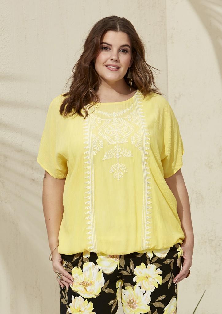 67625666 TOPP MED STRIKK NEDE-149 - Pip Stormote • Nettbutikk for klær i store  størrelser